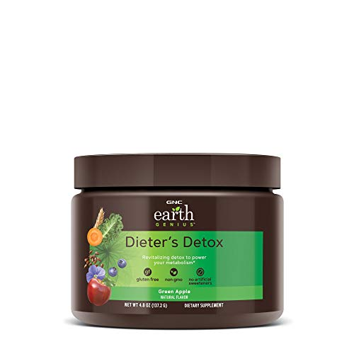 GNC Earth Genius Dieters Detox, Green Apple, 14 Servings