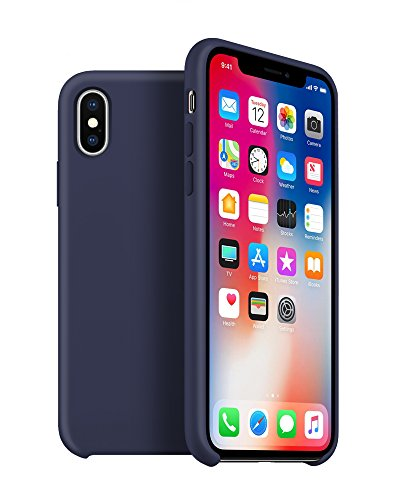 Arrive Liquid Series Soft Silicone Protective Case For iPhone X (Navy Blue) Liquid Series