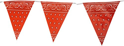 Western Party Decorations (Bandana Pennant Banner Party Accessory (1 count) (1/Pkg))