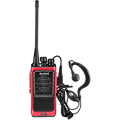 Arcshell Rechargeable Long Range Two-Way Radios with Earpiece 6 Pack Walkie Talkies UHF 400-470Mhz Li-ion Battery and Charger Included: Car Electronics
