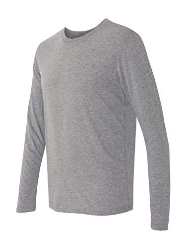 Next Level Men's Rib-Knit Tri-Blend Long-Sleeve T-Shirt, S, Premium Heather - Tri T-shirt Blend