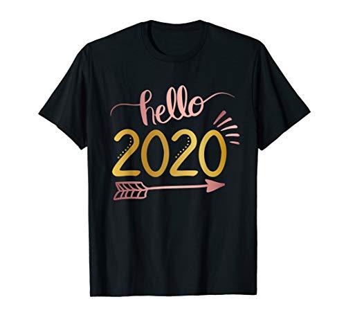 Hello 2020 Arrow Happy New Year Eve Holiday Funny Party Gift T-Shirt