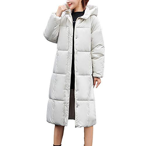 Invierno algodón Delgado Luckycat Abrigo con Capucha Blanco de Gruesa de Capucha Abrigo con de Mujeres de Chaqueta Las p0Zq70c