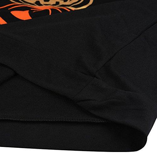 FAMILIZO Las mujeres de la calabaza de impresión de manga larga con capucha Sudaderas Tops camisa de la blusa