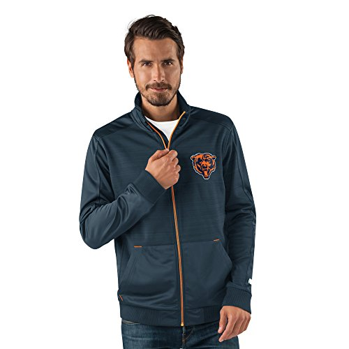 Bears Jacket - G-III Sports NFL Chicago Bears Men's Progression Full Zip Track Jacket, Medium, Navy