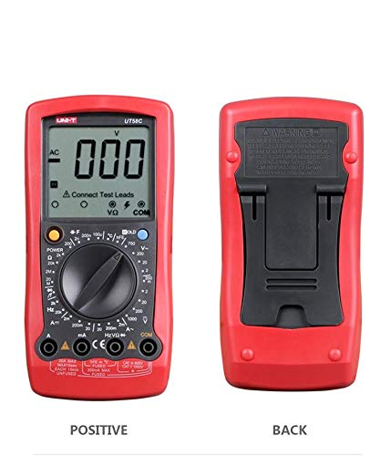 UT58C General Digital Multimeters Full Icon LCD Display Temperature Frequency Capacitance Diode Transistor AC/DC Tester