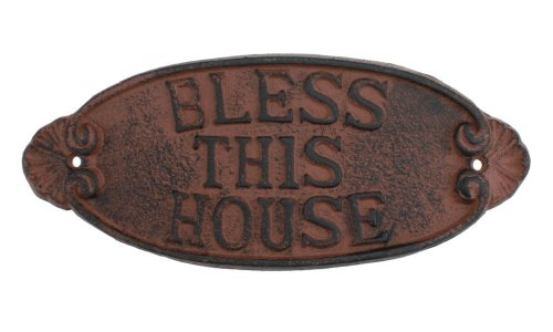 Cast BLESS HOUSE Religious Plaque