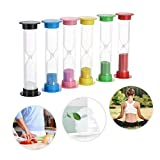Sandglass Hourglass Timer, Decdeal Sand Timer for Kitchen Office Game Timer 30sec / 1min / 2mins / 3mins / 5mins / 10mins Pack of 6
