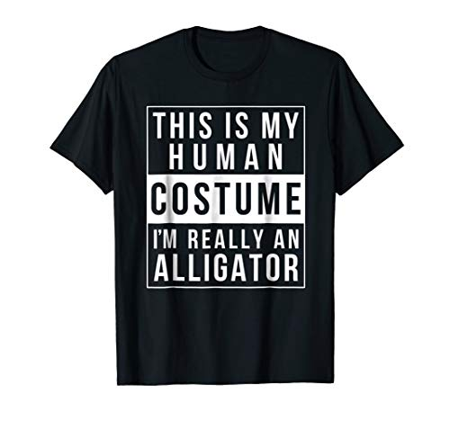 Alligator Halloween Costume Shirt Funny Easy for kids adults ()
