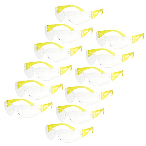 JORESTECH Safety Glasses Clear Frame Clear Lens UV400, Pack of - Glasses Safety Uv400