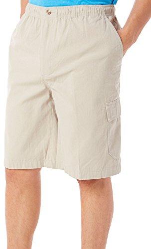 Windham Pointe Elastic Waist Mens Cargo Shorts X-Large Feather Grey - Bealls Elastic Waist Shorts