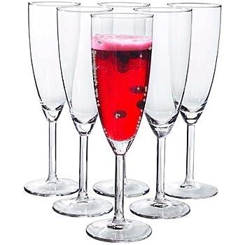 libbey vina trumpet champagne flute set of 6 champagne glasses. Black Bedroom Furniture Sets. Home Design Ideas