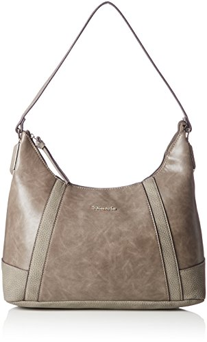 Tamaris Elsa - Shoppers y bolsos de hombro Mujer Gris (Dk Grey Comb)