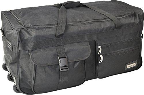 Leichte und Robuste Sport und Reisetasche mit tollem Design und Rollen Farbe Schwarz / 120 Liter