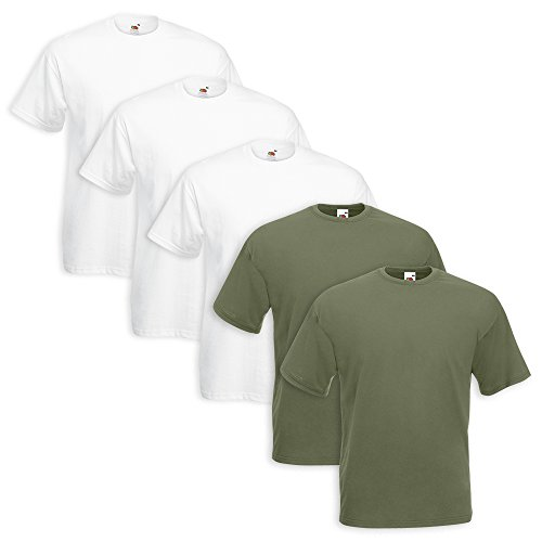 5 Pezzi Fruit The T Lot 3 Loom Bianco 2 Verde Militare Of shirt F4wdCqC