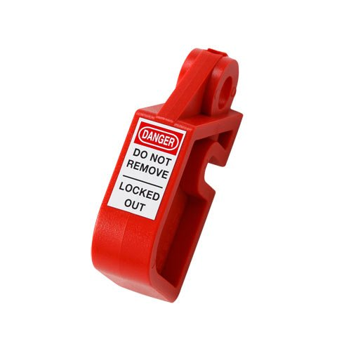 Brady 873367 Nylon''DANGER DO NOT REMOVE LOCKED OUT'' Device, 1.38'' Height x 0.59'' Width x 2.36'' L, Red