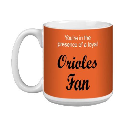 XM28079 Orioles Baseball Fan Artful Jumbo Mug, 20-Ounce (Baltimore Orioles Ceramic)