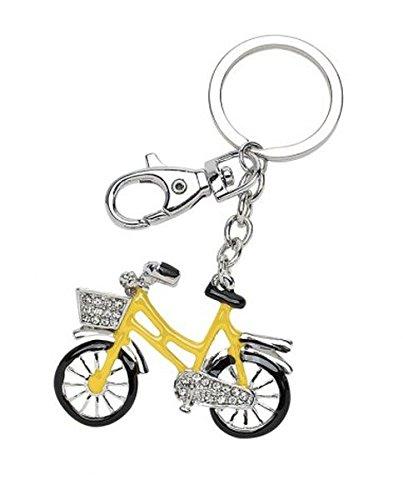 Ten Llavero Bicicleta Amarillo y Negro con Purpurina cod ...