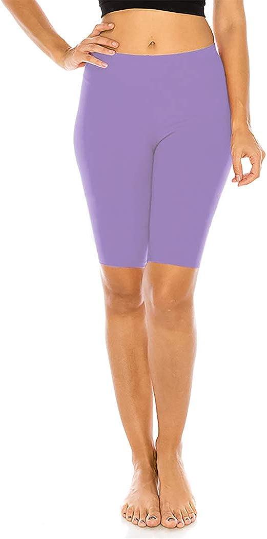 FUNGO Leggings F/ür Damen 1//2 kurze Capri Damen Sporthose Bunte Yoga Leggins F12