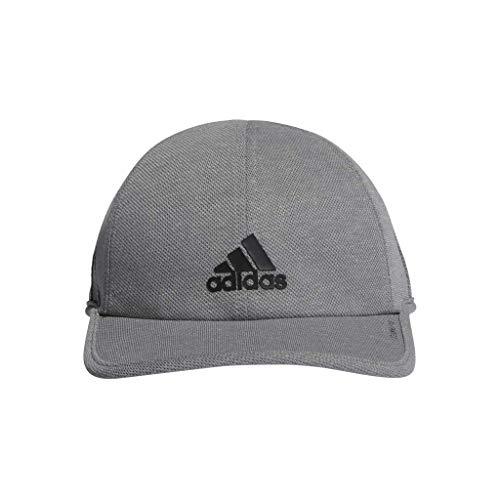 adidas Men's Superlite Pro Relaxed Adjustable Performance Cap, Grey/Black, One Size