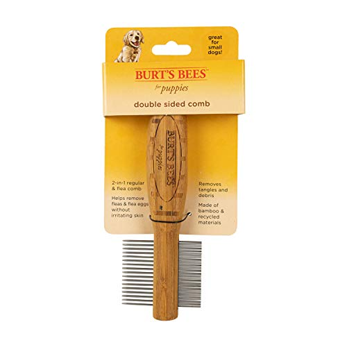 Burt's Bees for Puppies Double Sided Comb | Grooming Tool for Puppies & Small Dogs | Removes Fleas & Flea Eggs (Burts Bees Comb)