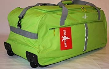 John Travel - Maleta con ruedas (ultraligera, 1,8 kg, 95 L, talla XXL), color verde: Amazon.es: Equipaje