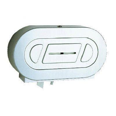 Jumbo Roll Holder (Bobrick 2892 ClassicSeries 304 Stainless Steel Surface-Mounted Twin Jumbo-Roll Toilet Tissue Dispenser, Satin Finish, 20-1316