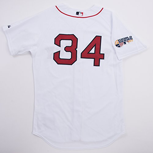 Jersey Authentic (David Ortiz Home White Authentic Red Sox Jersey #34 (X Large))