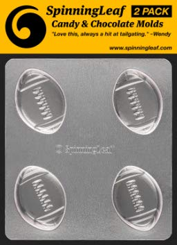 SpinningLeaf Football Oreo Cookie Chocolate Candy Mold