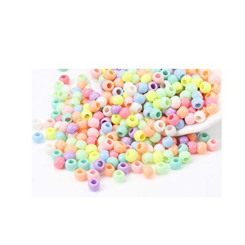 (Max Corner Pastel Beads for Bracelet Anklet Necklace Multi Color Jewelry Plastic Pony Bead Bulk 600 Pcs Craft Supply)