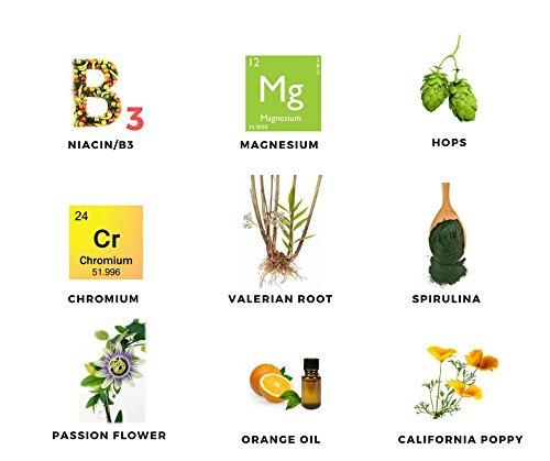 Passion Flower, Valerian, California Poppy, Magnesium