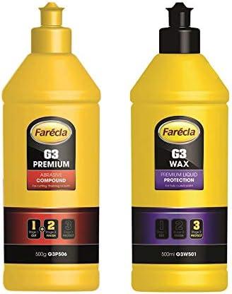 Farecla 500 G G3 Premium Schleifmittel 500 Ml G3 Wachs Flüssigschutz Auto