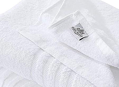 Divine Textiles 100/% Egyptian Cotton Fade Resistant Towel Set 600 GSM 2 x Bath Towels White