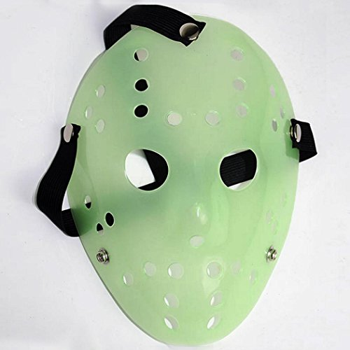 Friday The 13th Horror Hockey Jason Vs. Freddy Mask Halloween Costume Prop (Green) -