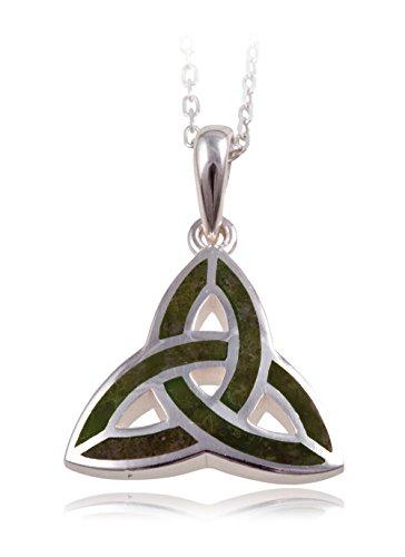 Irish Connemara Marble: Sterling Silver Inlaid