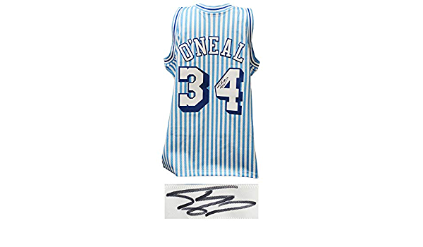 Shaquille O'Neal Signed Los Angeles Lakers Mitchell & Ness White ...