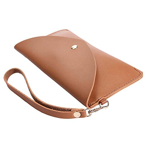 Women Wristlets 1 Clutch Coin Leather Simple Pure AFfeco Purse PU Casual Flap Phone 74tnPR