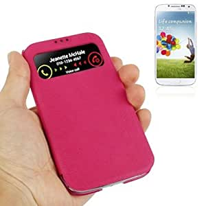 Nature Texture Horizontal Flip Leather Case with Call Display for Samsung Galaxy S4 / i9500