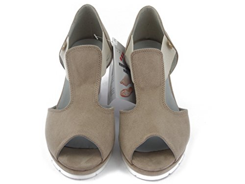 And Shoes Rubber 51538 Sand Cm Wedge Ecocamoscio Non Soft slip Leather Soles summer 7 Fly Cinzia xS8wAA