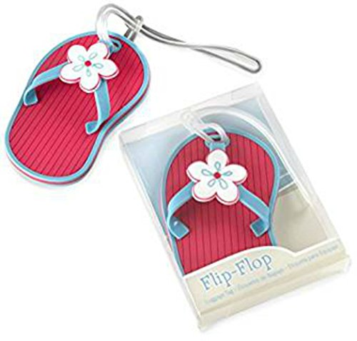 94pcs Flip-Flop Beach-Themed Luggage Tag Baby Shower Gifts & Wedding Favors by cute rabbit
