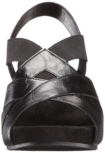 A2By Aerosoles de incendios luz de las mujeres sandalias de cuña Negro
