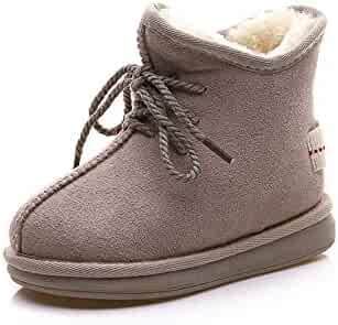0bfde14f7a06 Cdon Boys Girls Winter Warm Fur Lined Ankle Snow Boots Flat Booties Shoes
