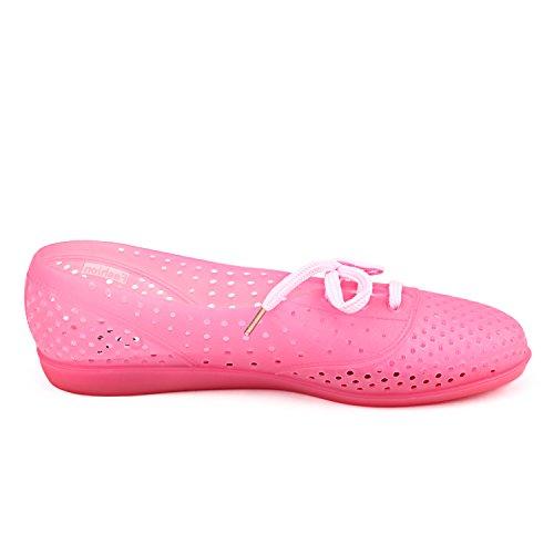 Shenduo - Chanclas de verano de material sintético cómodas para mujer D7910 Rosa