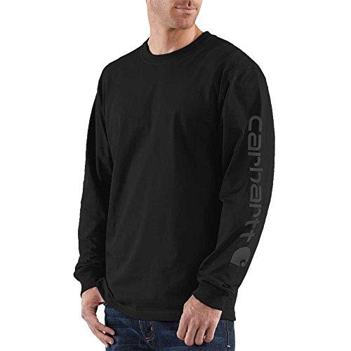 Carhartt Men's K231 Long Sleeve Logo T-Shirt - X-Large - Black/Deep Gray