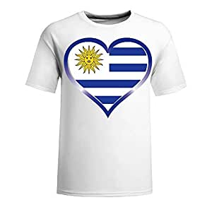 Brasil 2014 FIFA World Cup Theme Short Sleeve T-shirt,Football Background Mens Cotton shirts for Fans navy