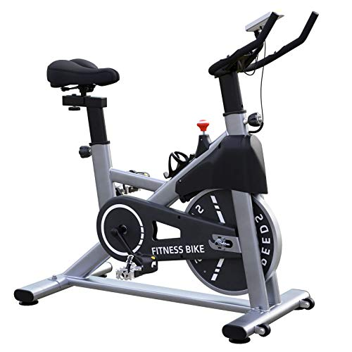Exercise Bikes Magnetic Resistance Indoor Cycling Stationary bike with 35lbs Flywheel, LCD Monitor, Tablet Holder…