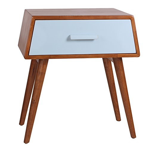 Giantex Tall Side End Table W Shelf Telephone Table Coffee Bedside Sofa Table for Living Room Bedroom, Espresso Nightstand 1