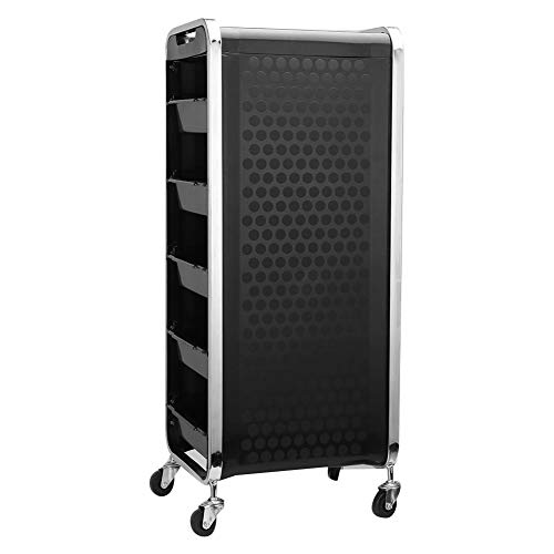 6 Layers Salon Trolley, Hair Salon Instrument Storage Rolling Trolley Cart for Stylist Hairdresser, Beauty Furniture Hair Styling Storage Station Color Tray