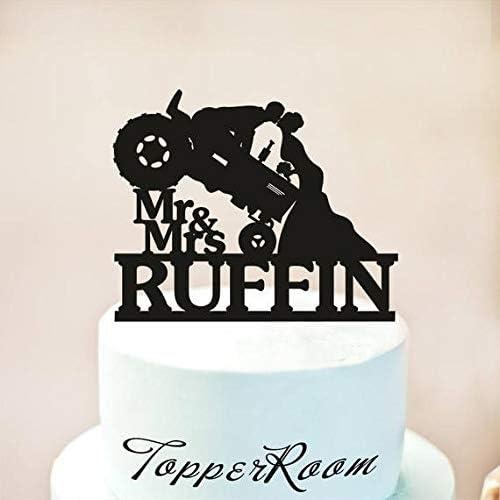 Decoración para tarta de boda, diseño rústico de tractor: Amazon ...