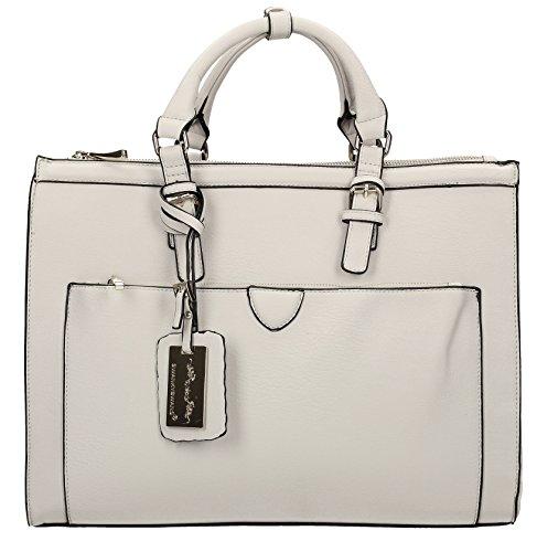 Grey Shoulder Marcella Bag Pale Work Womens Cosmo SwankySwans nCqpzz